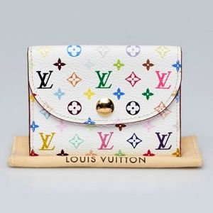 Louis Vuitton Multi color Card Holder Mini wallet
